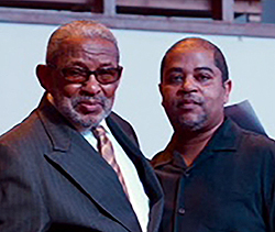 Deacon Joe Louis Jones (l), Zion Baptist Church (r) Fellowman Christopher Kingsberry,  Groove Phi Groove, Social Fellowship, Inc..