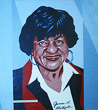 Councilwoman Jannie Blackwell's Mural on Wall of Fame (Photo:  by Leona Dixon)