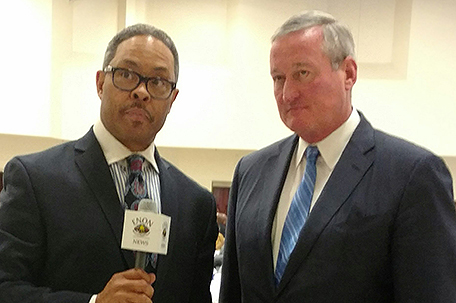 Rev. Dr. Alyn Waller and Mayor Jim Kenney (Photo: Enon Tabernacle Baptist Church and Office of the Sheriff)