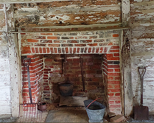 Slotterly Plantation slave cabin interior