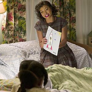 Taraji P. Henson as Katherine Johnson in Hidden Figures.