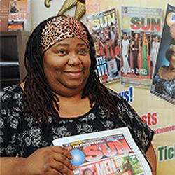 Teresa Emerson is the managing editor of The Philadelphia Sunday Sun. (Photo by Sarah J. Glover.)