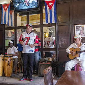 Musical group in a restaurant in the historic city center Salvador Aznar / Shutterstock.com