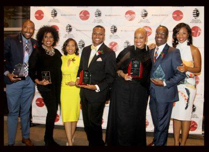2016 PABJ Awardees Caron J. Phillips, Cheryl Ann Wadlington, Aalyah Duncan, Ernest Owens, Bobbi Booker, C Caesar Aldama,