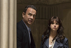 Langdon (Tom Hanks) and Sienna (Felicity Jones) look for a way out of the Palazzo Vecchio in Columbia Pictures' 'Inferno'.