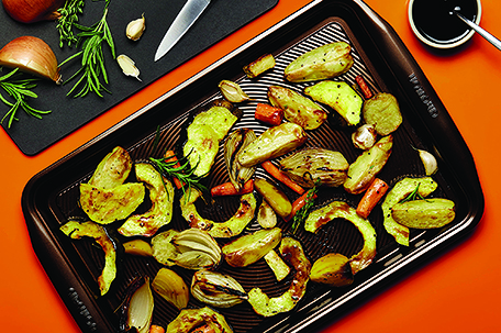 Balsamic Glazed Roasted Root Vegetables