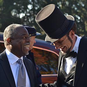 LeVar Burton with Abraham Lincoln