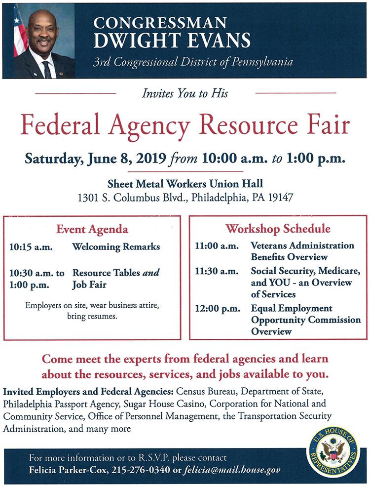 Federal Agency Resource Fair The Philadelphia Sunday Sun